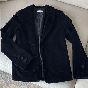Anine Bing Black Velvet Suit Jacket